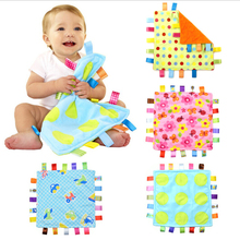 Baby ultra soft velvet multicolour label baby appease the comforting towel cloth toy placarders(China (Mainland))