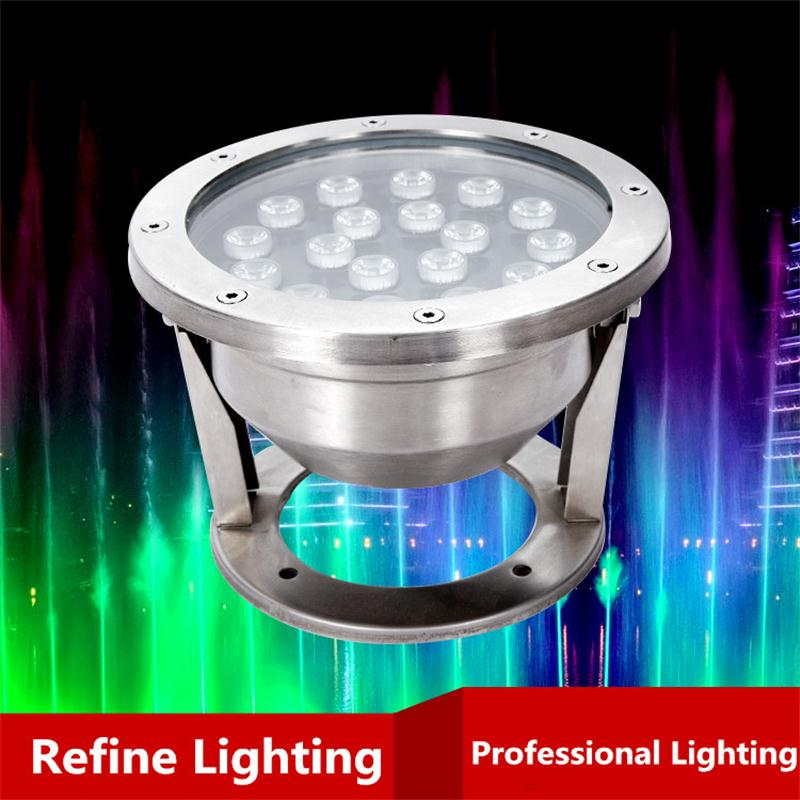 Фотография Underwater LED RGB 18W IP68 Swimming Pool Light For Piscine Iluminacao Outdoor Fountain Lights Project Decor LED Underwater Lamp