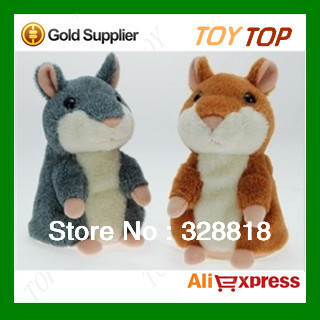 Free shipping 5.5''  high quality hamster Talking hamster Russian woody speaking toys repeat any language funny toy for gift