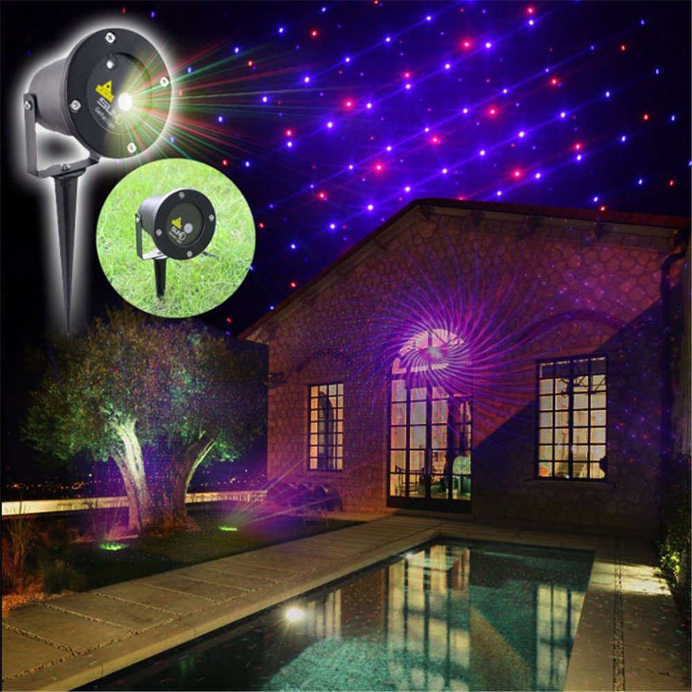 New 2 Lens12 Gobos Red Blue Laser Outdoor Indoor