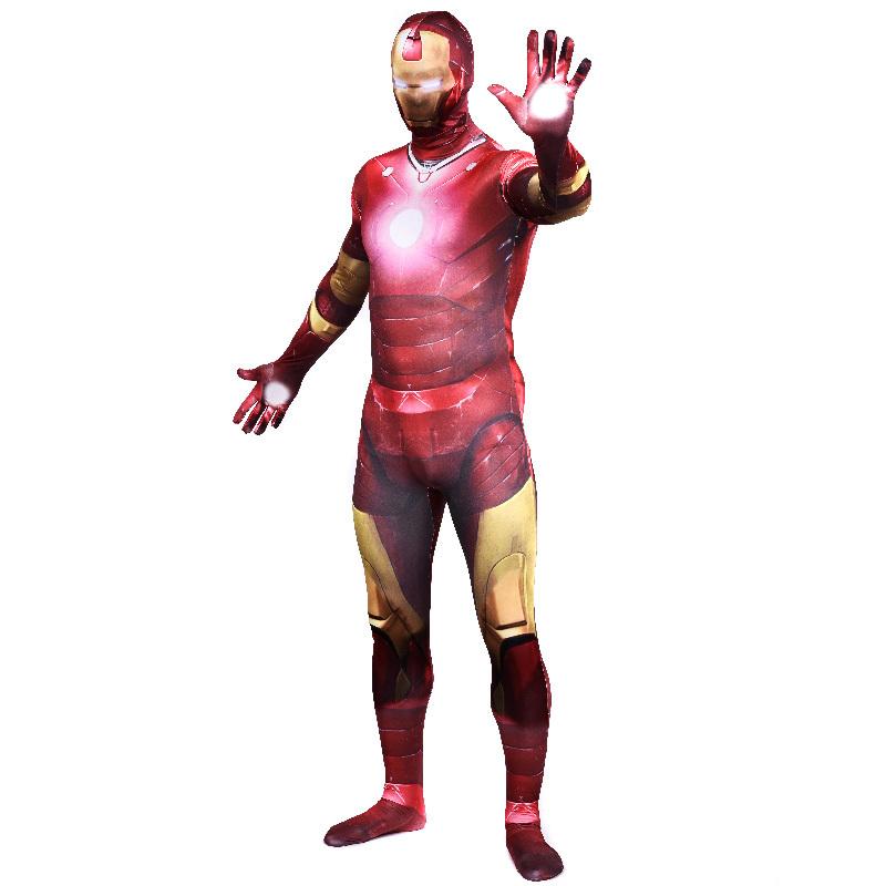 Superhero Spandex Costume Adult Iron Man Full Body Suit Lycra Zentai Catsuit Unitad - JoyBuy Trading store