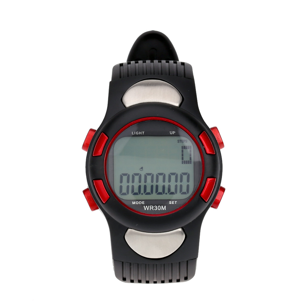 Sports Pulse Heart Rate Monitor Fitness Exercise Watch Pedometer Calorie Stopwatch Waterproof Outdoor Cycling Watch(China (Mainland))