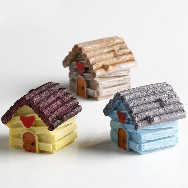 mini jardim acessorios:Resin Miniature Dwarf House