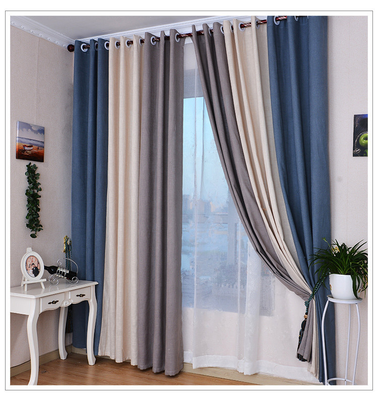 Grey And White Blackout Curtains Striped Blackout Curtains