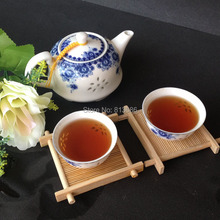 Travel Porcelain Teapot & Tea Cup Set Blue-and-White Ceramic Tea Set