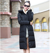 7 14 days To Moscow 2016 New winter design long overcoat women s cotton padded jacket