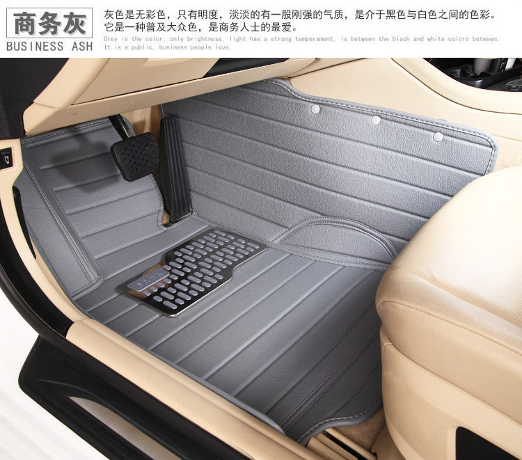 5seats waterproof XPE material non slip full surrounded car floor mats for Mitsubishi Pajero wear resistant 7seats rugs optional(China (Mainland))