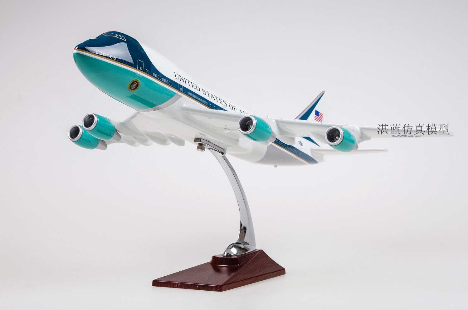 Plane Model Toys Boeing 747 Air Force One Diecast Resin Airplane Model Toy New In Box For Collection/Gift/Decoration(China (Mainland))