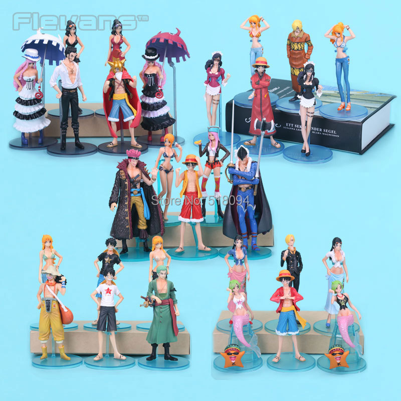 Anime Cartoon One Piece Toys PVC Action Figures for Children Kids Toys Gifts 29pcs/set OPFG396