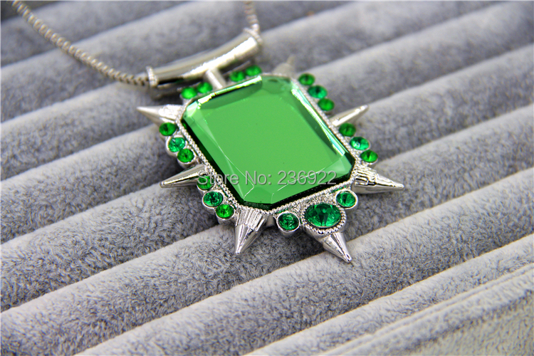 20pcs/lot Wholesale Fashion Jewley Crstal Charm Once upon a time wicked witch Zelina Glinda necklace,The pendant 5cm*6.5cm<br><br>Aliexpress