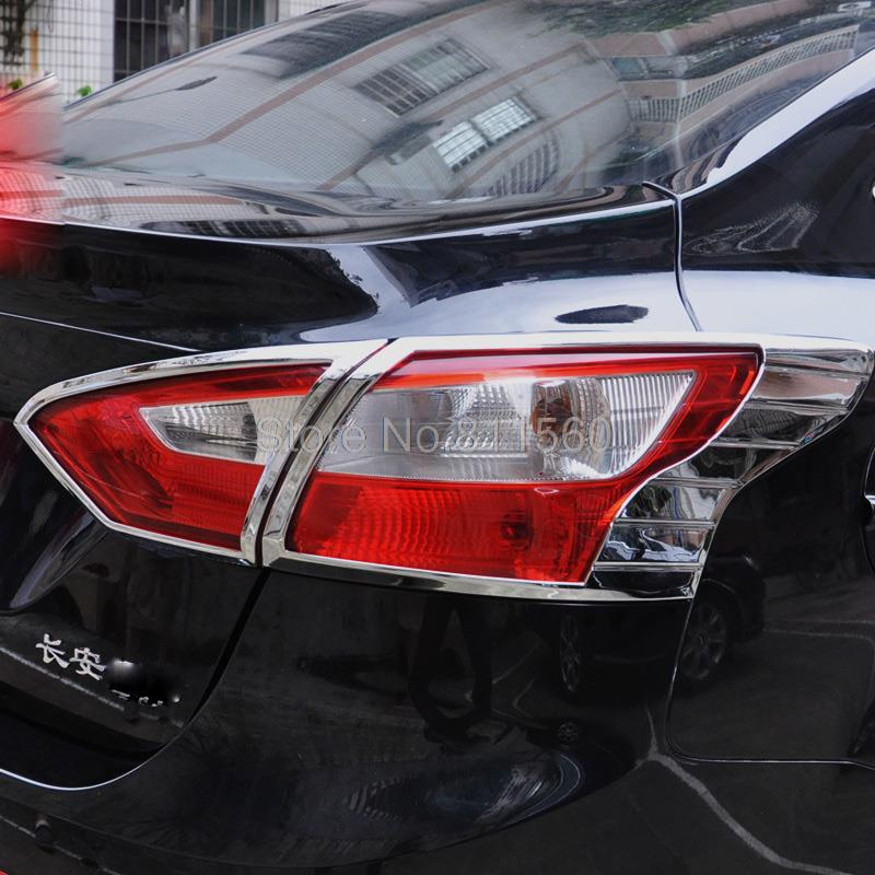 Brand New Chrome ABS Rear Tail Light Lamp Cover Trim fit for Ford Focus 3 2012 2013 4 doors Sedan(China (Mainland))