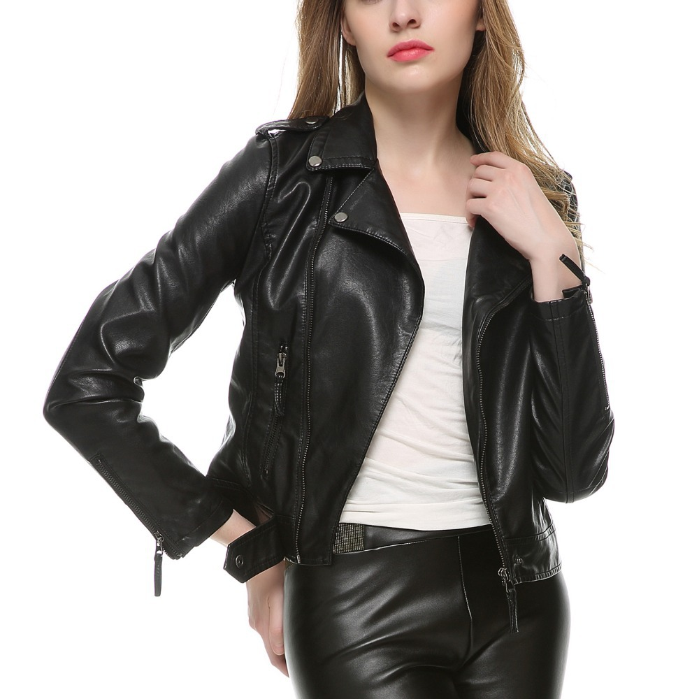 girls leather coat jacketin