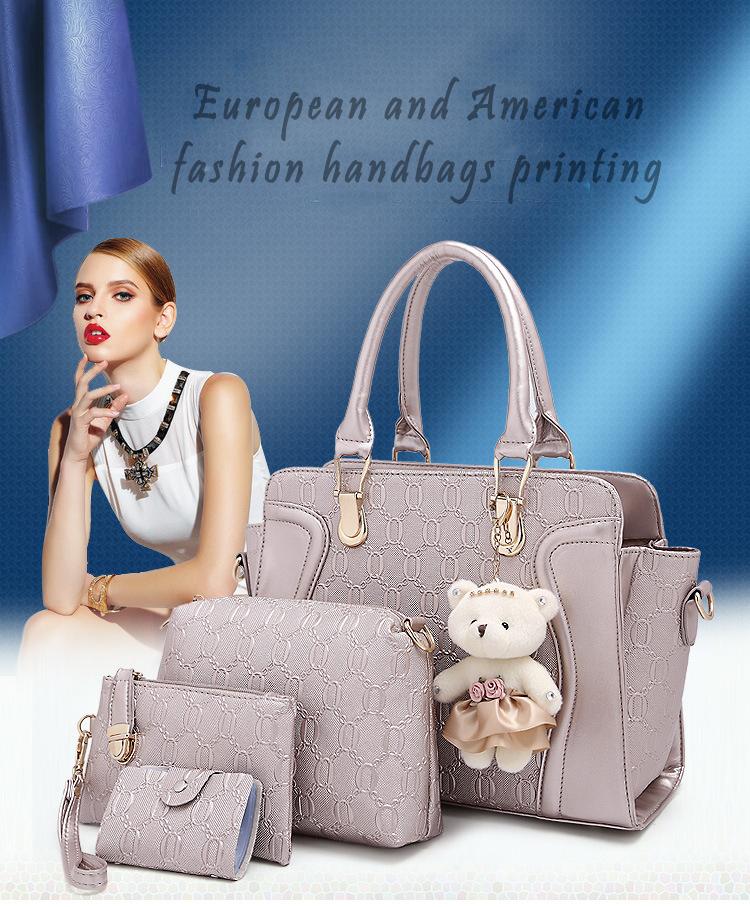 2016 New Brand Composite Bag casual Embossed designer handbags Style Ladies Socialite women messenger bags fashion shoulder bag