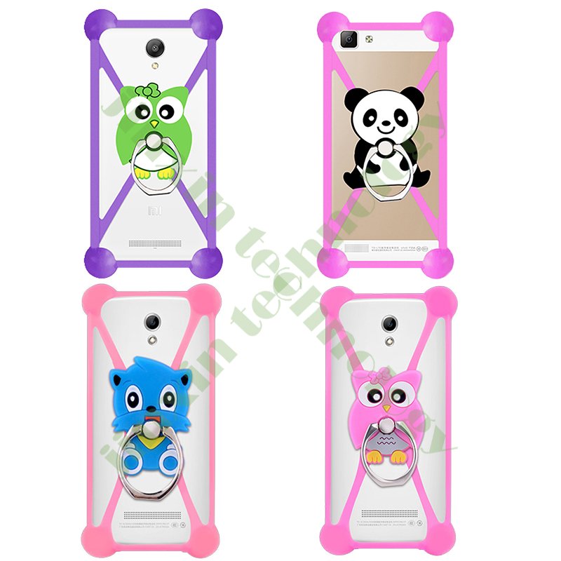 New Cartoon Ring Stand Holder Soft Silicone Case For Blackview BV2000/BV2000S Cell Phone 3.5 - 5.5 Inch Bumper Frame Cover(China (Mainland))