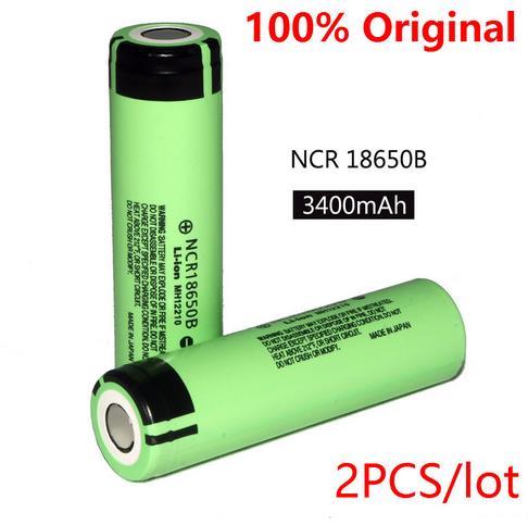 2PCS /lot 100% New Original NCR18650B 3.7 v 3400 mah 18650 Lithium Rechargeable Battery For Panasonic batteries + Free shipping(China (Mainland))
