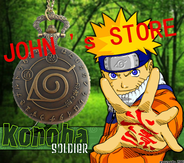 Freeshipping wholesale 20pc a lot Naruto Konoha Symbol pocket watch Necklace Dia47mm HDJDFU01<br><br>Aliexpress