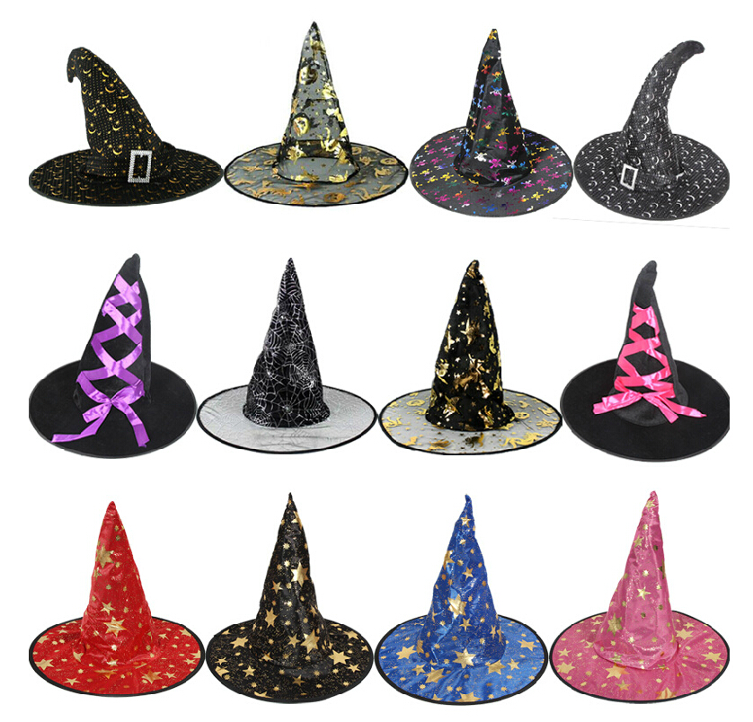 HotSale! Halloween Witch Hat Witch Wizard Peaked Cap Cosplay Witch Suppliers Unisex Hats(China (Mainland))