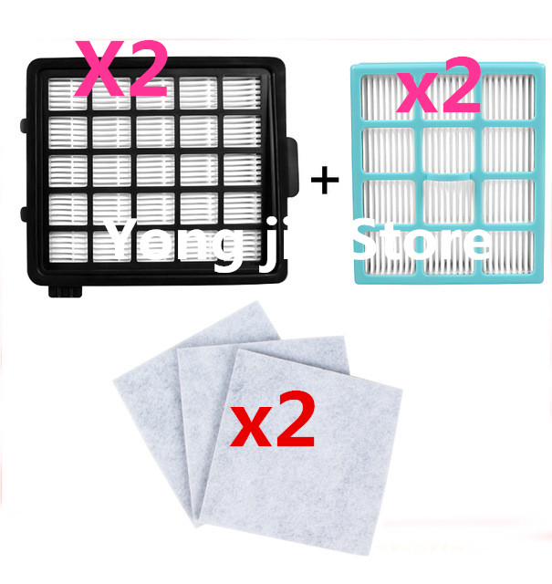 10 PCS vacuum cleaner accessories 4pcs Hepa Filter + 6pcs Motor Cotton Filter For Philips FC8134 FC8135 FC8136 FC8142 FC8146(China (Mainland))