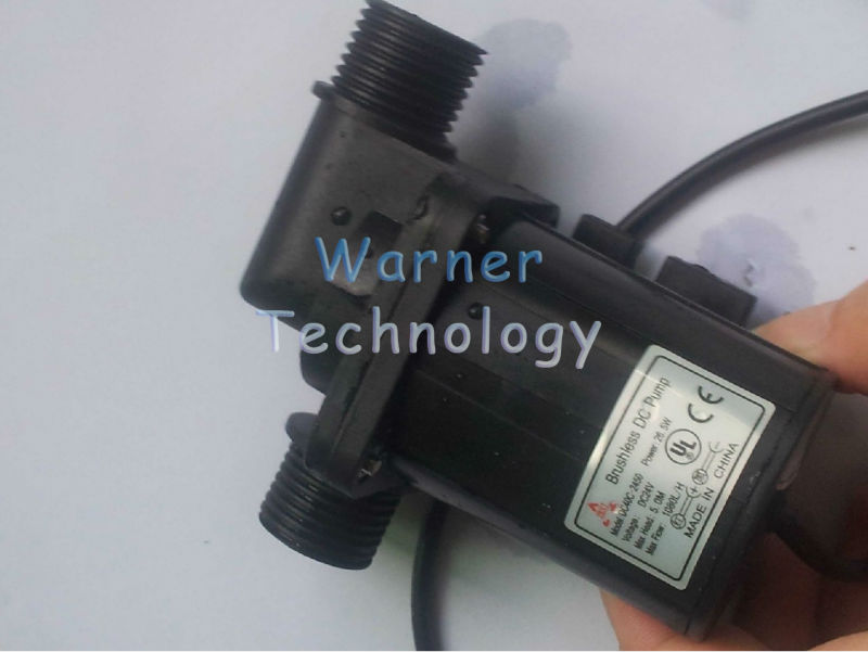 Free Shipping, 24V Micro DC Circulation Pump, 26W, 5m Head, 1080L/H, Low Noise, Maintence Free, Non-stop Work, Absoulte Safety(China (Mainland))