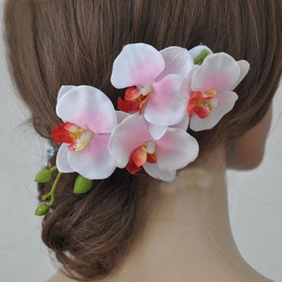 Заколки для волос с цветами