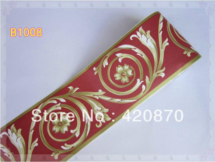 Pvc wallpaper furniture decoration wallpaper waistline stickers b1008 cold water(China (Mainland))
