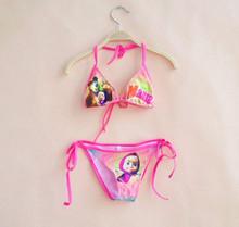 Masha And Bear Russia Cartoon Girls Swimsuit 2pcs Girls Swimwear Children Bikini Swim Wear Summer Girls Clothing Beach Clothes