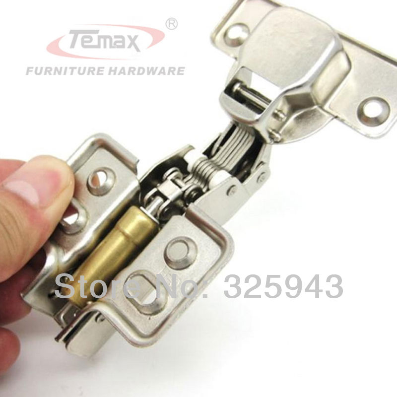 Full overlay FURNITURE HARDWARE Hydraulic brass buffer nickel kitchen cabinet gate hinges damper(China (Mainland))
