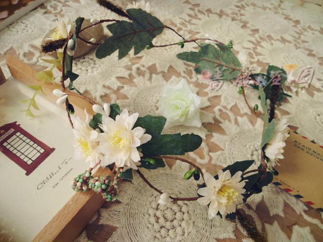 Artificial garland hand ring bride and bridesmaids wedding dress hair accessory hair accessory halo(China (Mainland))