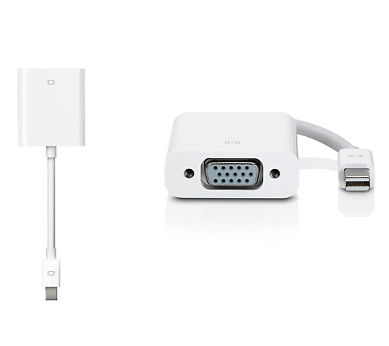 Mini displayport DP to VGA Cable Adapter Converter for Apple MacBook Pro Air White(China (Mainland))