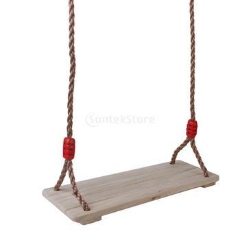 Новые поступления 2015 береза древесные открытый качели сиденье с веревкой бесплатная доставка