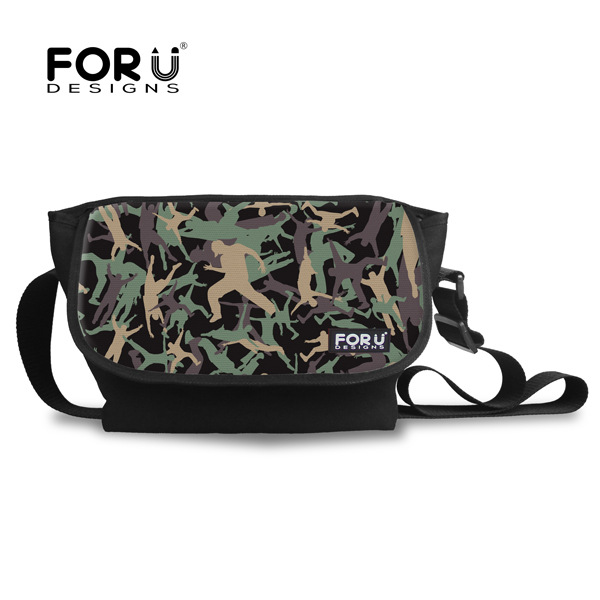 High Quality Cool Printing Men's Camouflage Messenger Bags Green Student Crossbody Bag For Teenager Boys Outdoor Travel Bag(China (Mainland))