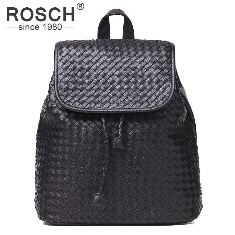 Hot Sale Famous Brands Designer Handmade Women Backpack Woven High Quality PU Leather Rucksack Black School Bag Casual Backpacks<br><br>Aliexpress
