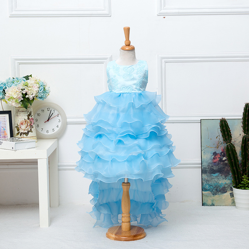 Girls ball gowns floor length party dresses princess dress pretty cake gowns 3 colors can choose color and size<br><br>Aliexpress