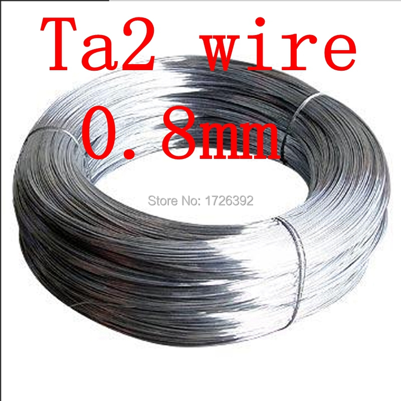 0.8mm Ta2 hot sell 0.8mm 10meters Authentic TA2 99.6 Alloy titanium wires thread FREE SHIPPING(China (Mainland))