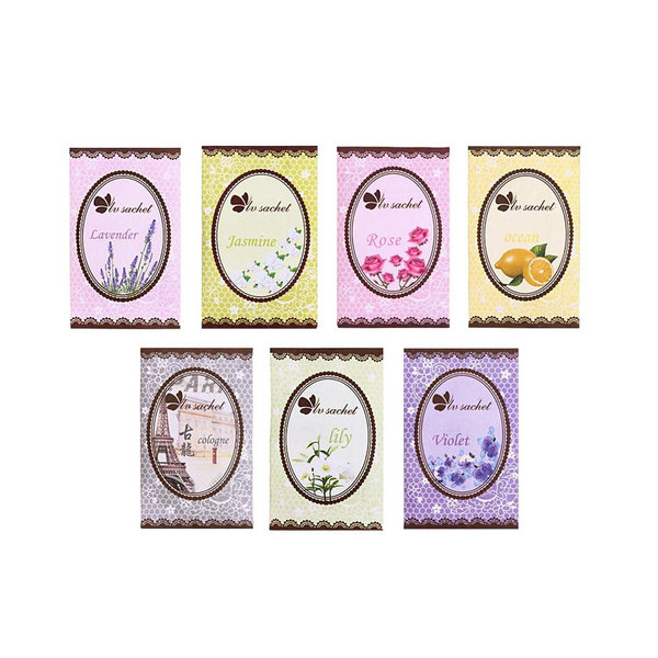 Гаджет  Lovely 7 Taste Fresh Air Scented Fragrance Home Wardrobe Drawer Car Perfume Sachet Bag New 7pcs/Pack None Дом и Сад
