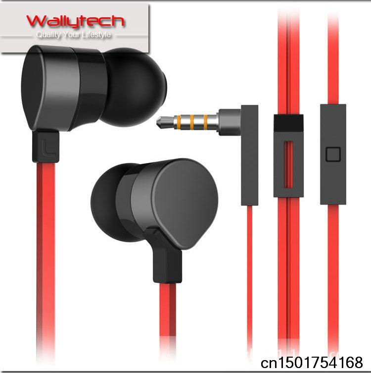 Hot! ! ! Metal Super Bass Stereo Ear Headphones with wheat for iPhone5 Samsung HTC earphone WHF-125