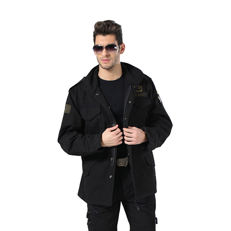 Military Coat Black