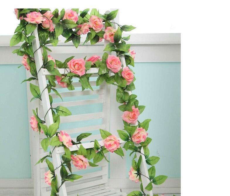 Silk Wedding Flowers In Maryland : Pcs lot silk rose flowers fake artificial ivy vine