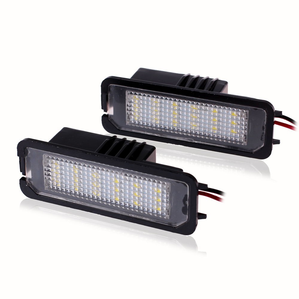2016 Hot Sale Car License Plate Lights For VW Passat Golf GTI 5 6 Scirocco Phaeton New Beetle CC 10PC/lot CNPAM Free(China (Mainland))