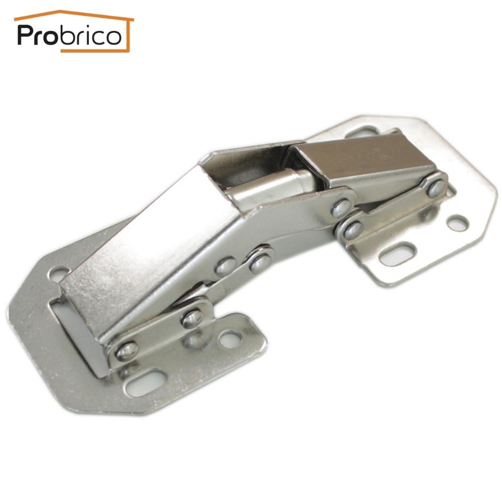 Probrico 4 Pair Kitchen Cabinet 90 Degree Hinges Iron CHB405GA Furniture Concealed Cupboard Door Hinge Free Openings(China (Mainland))