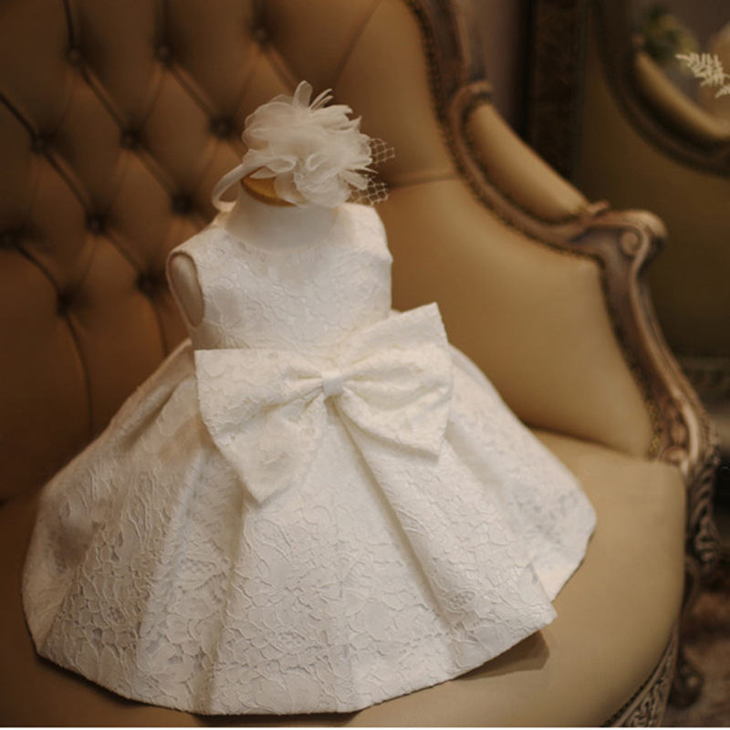 baby girl Birthday Party Dresses Princess baby girls wedding dress baby girls christening dresses Baptism Dress for newborn(China (Mainland))