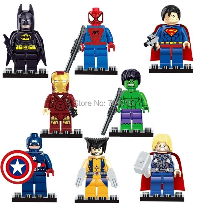 The Avengers Marvel DC Super Heroes Series 8 Pcs Set Minifigures Building Toys New Kids Gift Free Shipping Compatible With Lego(China (Mainland))
