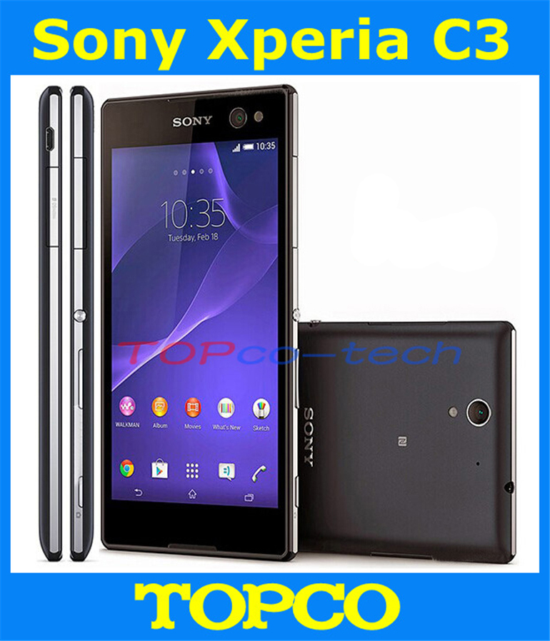 """Sony Xperia C3 original unlocked Quad-core Android mobile phone Sony C2533 3G GSM WIFI GPS 5.5"""" 8MP 8GB dropshipping(China (Mainland))"""