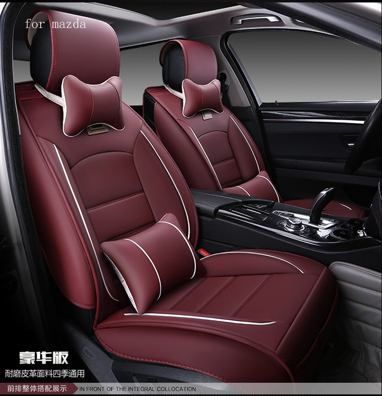for mazda 3 6 mazda cx 5 beige red coffee black waterproof soft pu leather car seat covers brand. Black Bedroom Furniture Sets. Home Design Ideas