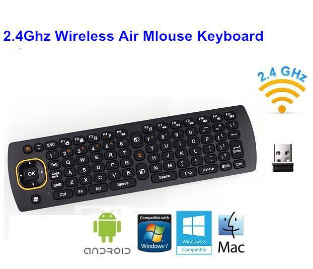 2.4Ghz Wireless Gyroscope Air Mouse Keyboard Android TV Box/Media Player/Smart - Shenzhen WiseDream Technology Co., Ltd store