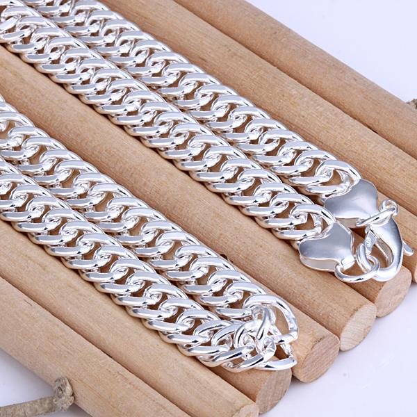 Ювелирные изделия 925 чистое серебро ювелирные изделия ожерелье, 10 мм мужчины ювелирные изделия n345