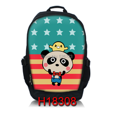 cartoon 15″ laptop bag with  two-way separating zip multi-function notebook backpack for lenovo/dell/hp/acer etc.