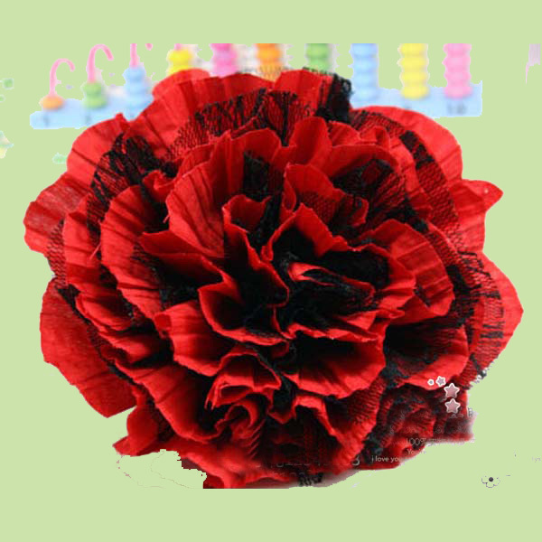 About 14CM Folds chiffon fabric large hair flower for bride hair clip dance dress bag shoes headband flower accessories(China (Mainland))