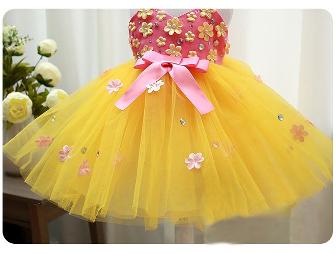 Baby Flower Girl Dresses Yellow Bridesmaid Dresses
