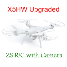 New Arrival ZSR/C FPV RC Quadcopter Drone with WIFI Camera 6-Axis 2.4G RC Helicopter Quadrocopter Toys Syma X5SW X5C Upgraded